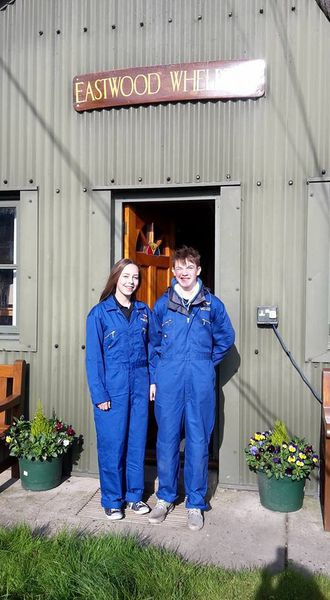 Ed and Sarah on work experience